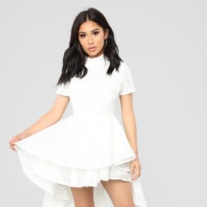 On the verge ruffle dress